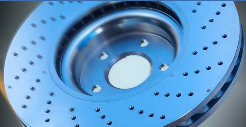 Brake disc coating